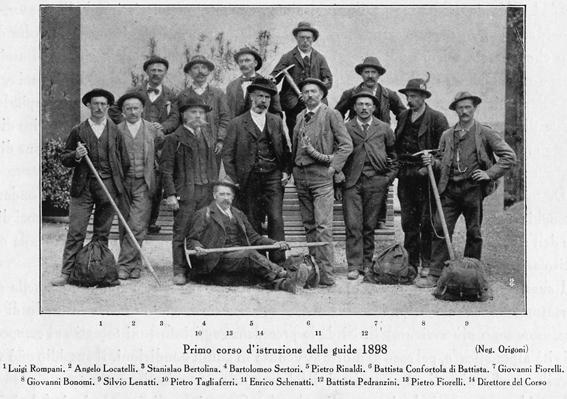 guide alpine in posa nel 1898