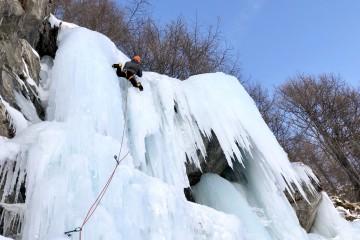 scalatore su ghiaccio
